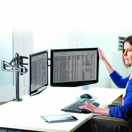 Brazo doble para monitor Professional Series