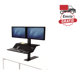 Estación de trabajo Sit-Stand Lotus™ VE monitor doble