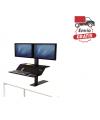 Estación de trabajo Sit-Stand Lotus™ VE monitor doble