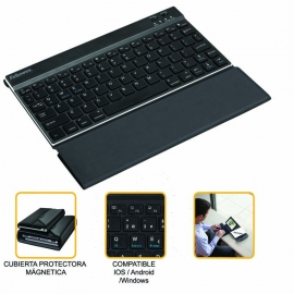 Mini teclado bluetooth con funda incorporada