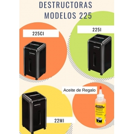 Destructora de documentos 225Ci