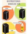 PROMO: DESTRUCTORA FELLOWES 225Ci + ACEITE