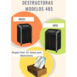 PROMO: DESTRUCTORA 485i + 50 BOLSAS DE RESIDUOS