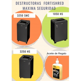 PROMO DESTRUCTORA FELLOWES 3250SMC + ACEITE 350 ML.